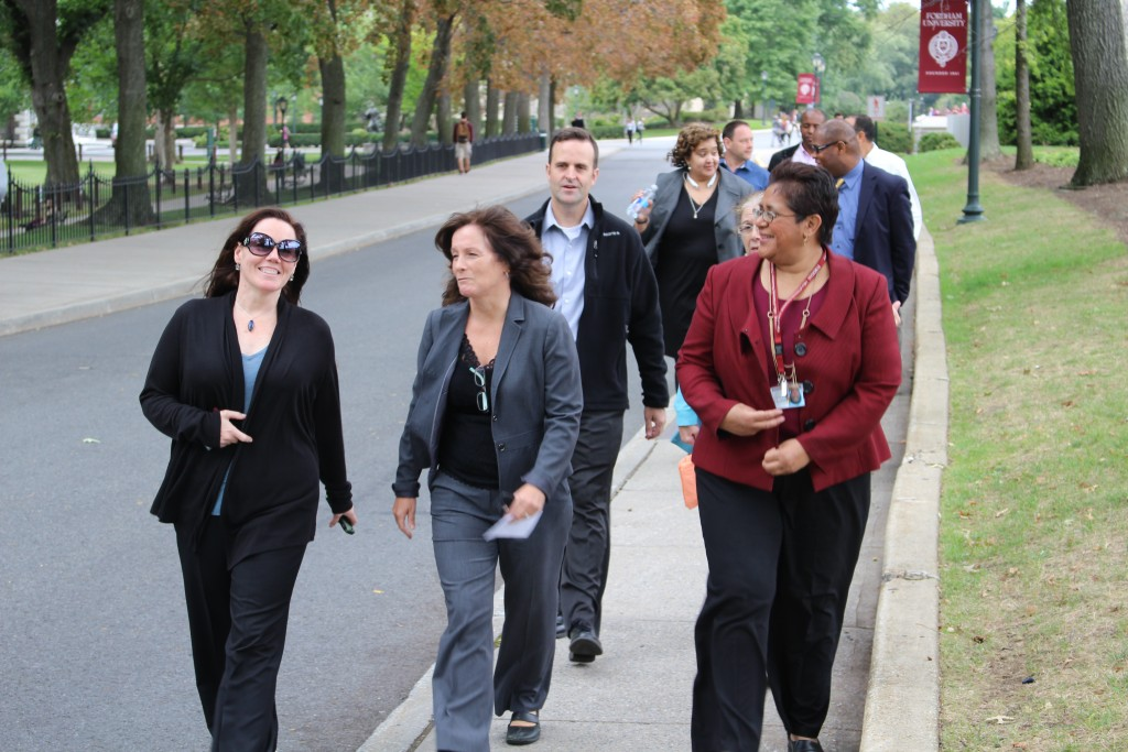 "Fordham IT staff take ""Innovation Walks"" to disconnect from the online world and get some exercise."