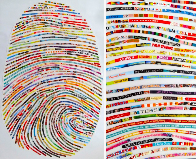 Everyone has unique fingerprints. The image above is work of by Cheryl Sorg, an artist who creates portraits of people's thumbprints.