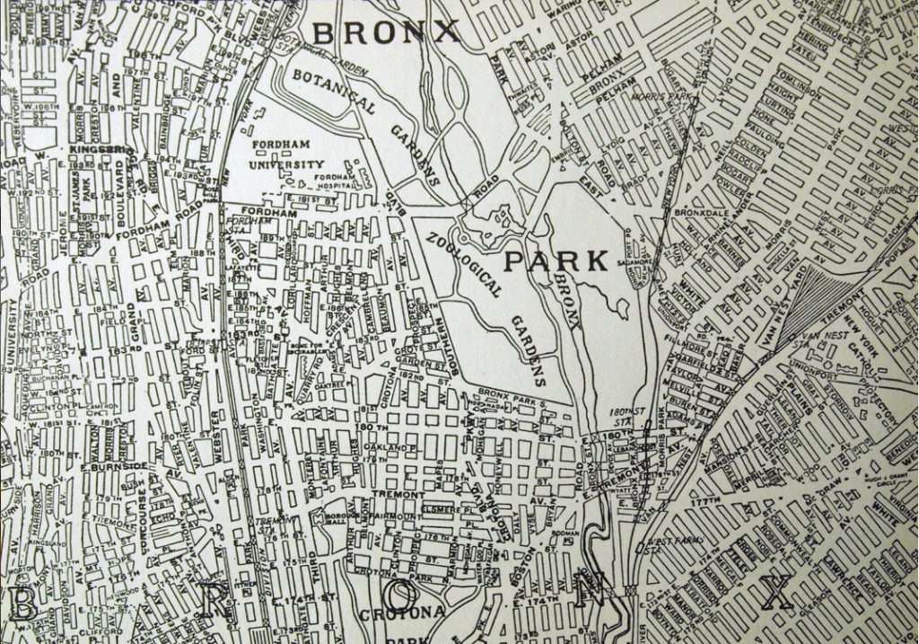 1937 Map of the Bronx